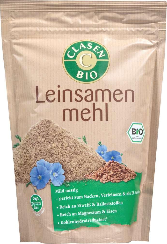Abbildung des Sortimentsartikels Clasen Bio-Leinsamenmehl vegan 300g