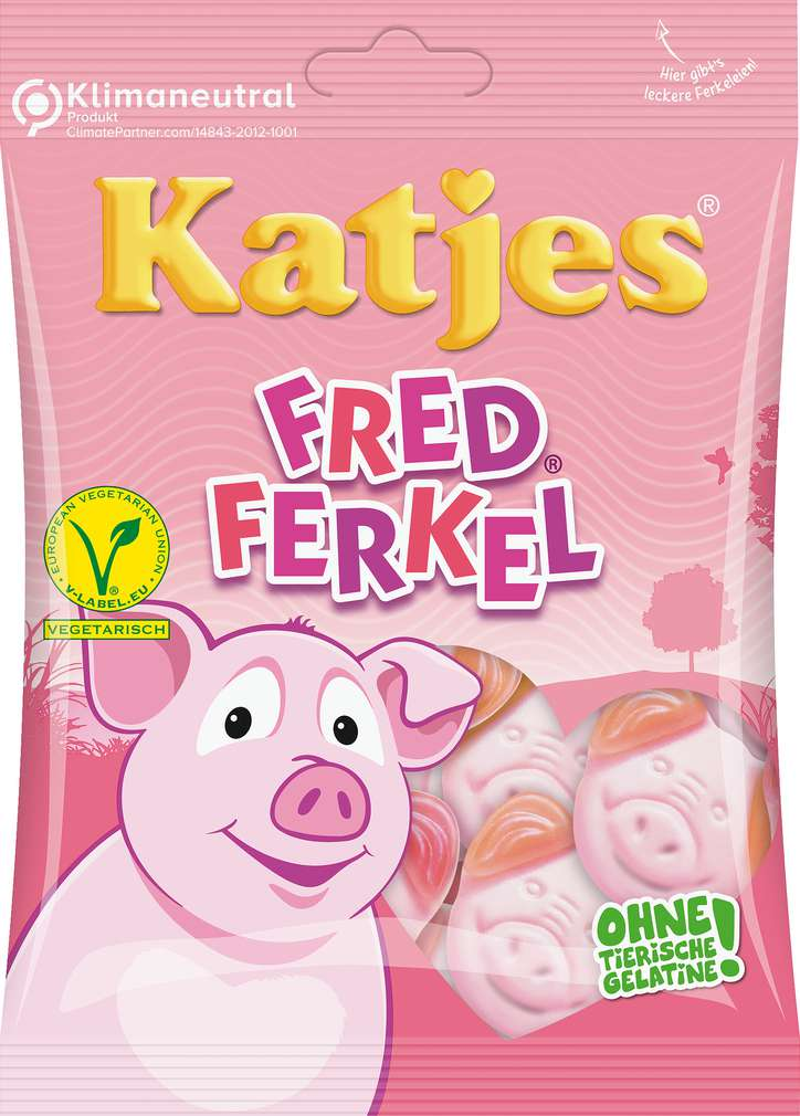 Abbildung des Sortimentsartikels Katjes Fred Ferkel 200g