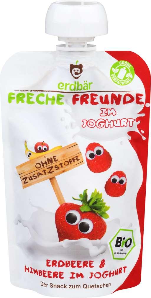 Abbildung des Sortimentsartikels Erdbär Freche Freunde Quetschmus ab 1 Jahr Erdb/Himb/Joghurt 100g