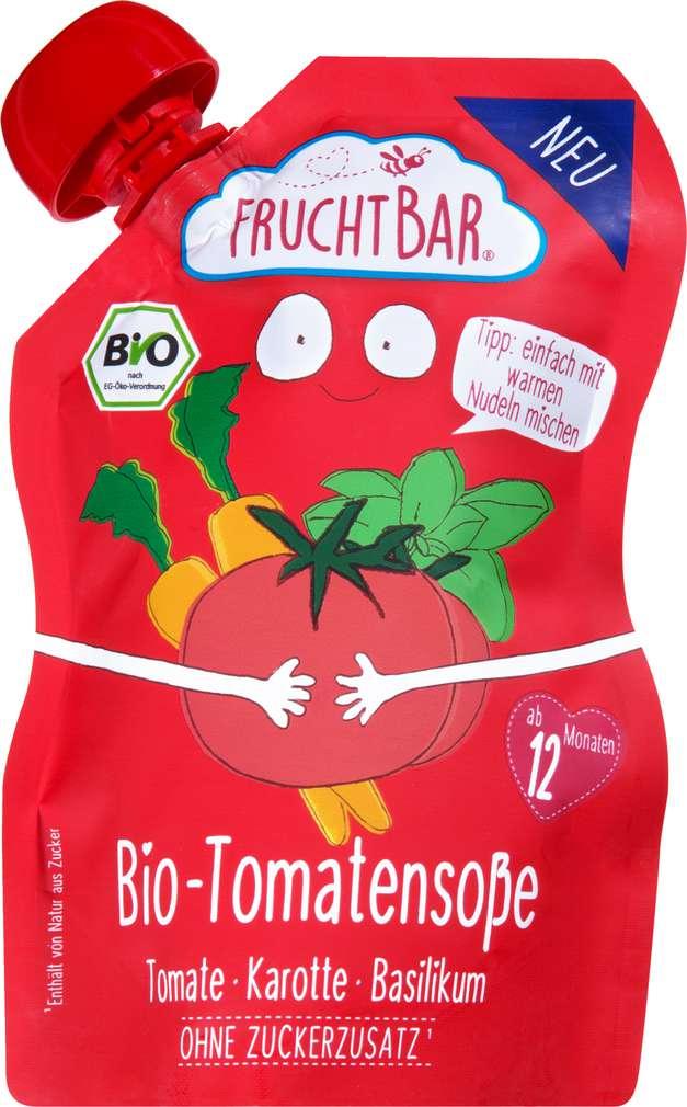 Abbildung des Sortimentsartikels FruchtBar Bio Tomatensoße ab dem 12.Monat 190g