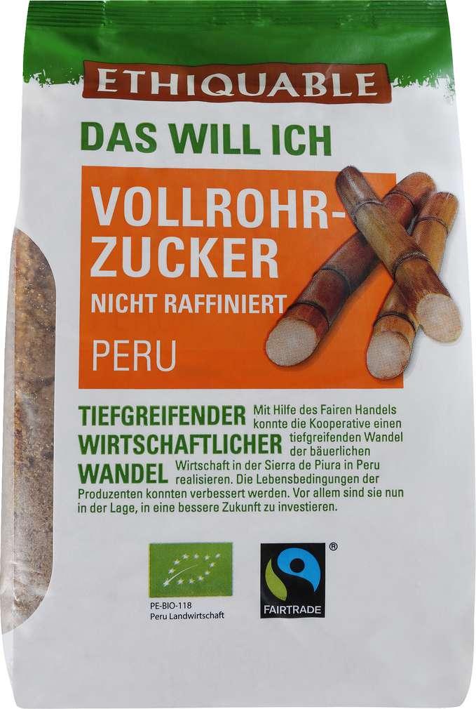 Abbildung des Sortimentsartikels Ethiquable Bio-Vollrohrzucker Fairtrade 500g