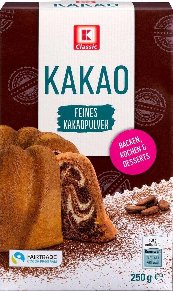 Abbildung des Sortimentsartikels K-Classic Kakao zum Backen dunkel 250g