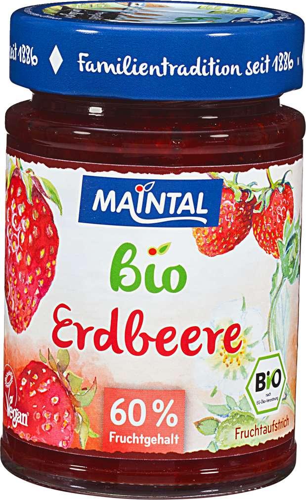 Abbildung des Sortimentsartikels Maintal Erdbeer Fruchtaufstrich 210g