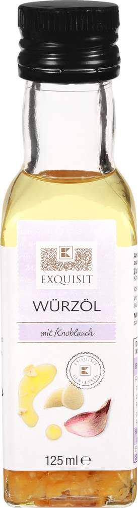 Abbildung des Sortimentsartikels Exquisit Würz-Olivenöl Knoblauch 125ml