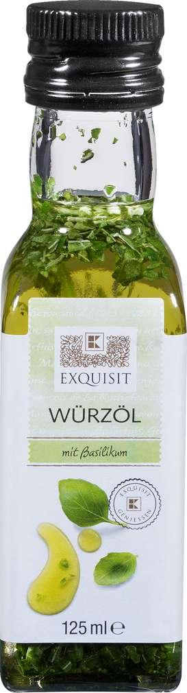 Abbildung des Sortimentsartikels Exquisit Würz-Olivenöl Basilikum 125ml