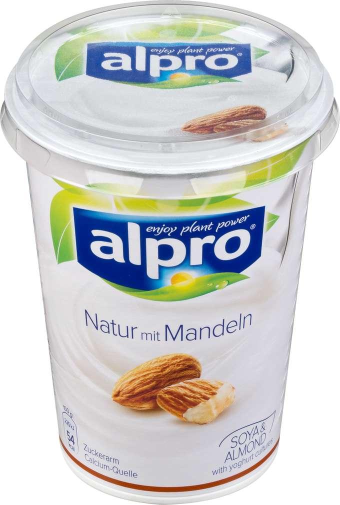 Abbildung des Sortimentsartikels Alpro Soja-Joghurtalternative natur mit Mandeln 500g