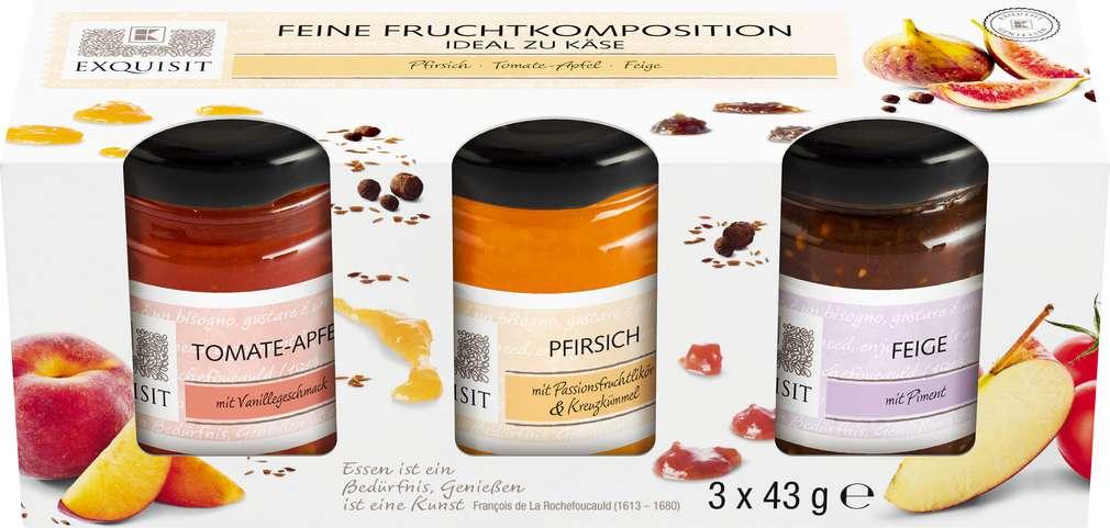 Abbildung des Sortimentsartikels Exquisit Fruchtkomposition 3x43g