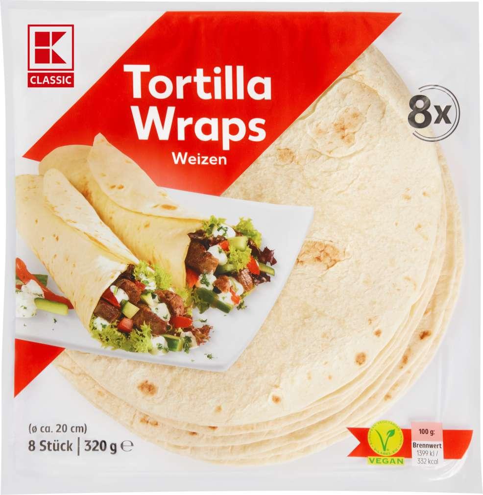 Abbildung des Sortimentsartikels K-Classic Tortillas Weizen 8 Stück 320g