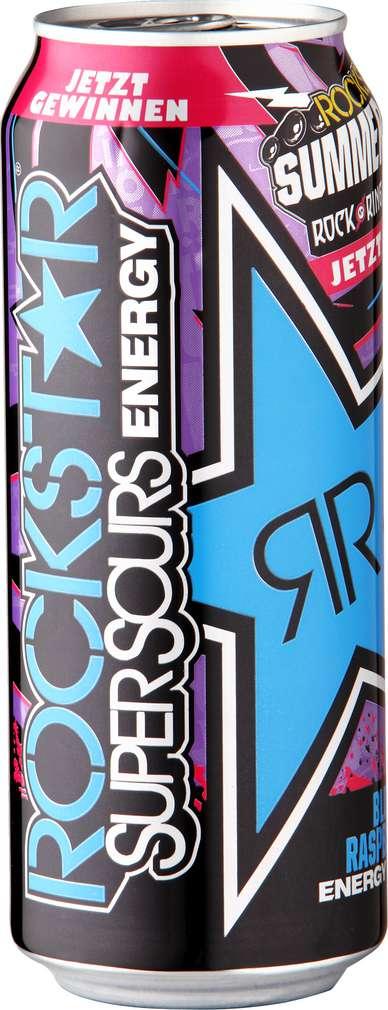 Abbildung des Sortimentsartikels Rockstar Super Sours Energy Drink Blue Raspberry 0,5l