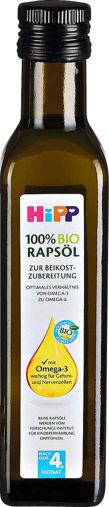Abbildung des Sortimentsartikels Hipp 100% Bio Rapsöl 250ml