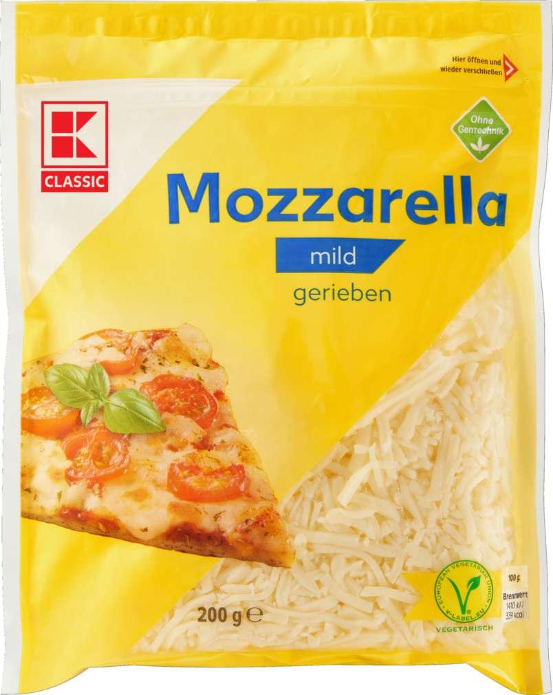 Abbildung des Sortimentsartikels K-Classic Mozzarella gerieben 45% Fett i.Tr. 200g