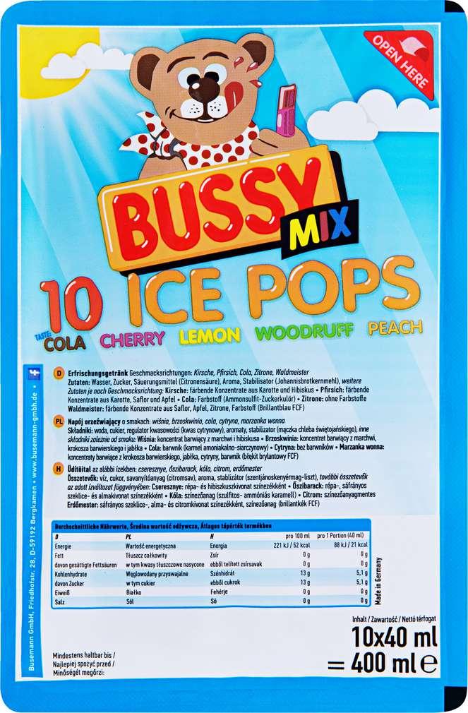 Abbildung des Sortimentsartikels Bussy Mix Schleck-Drinks 10x40ml