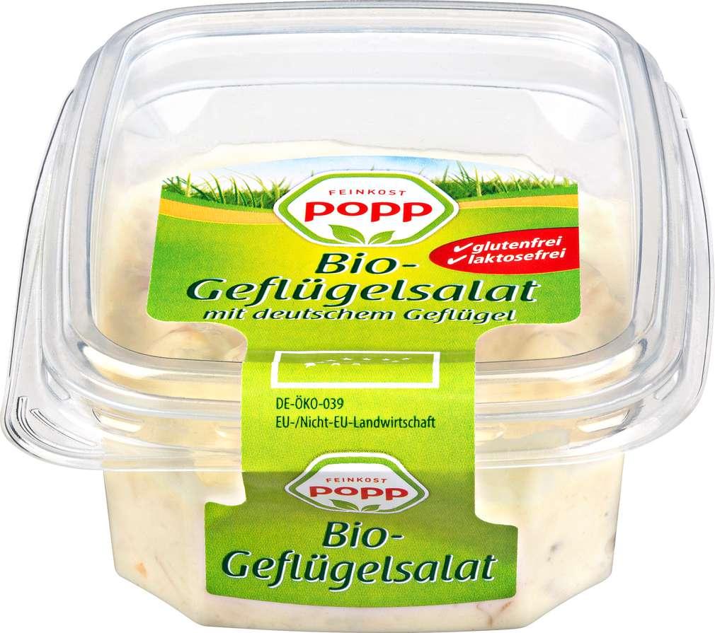Abbildung des Sortimentsartikels Popp Bio-Geflügelsalat 125g