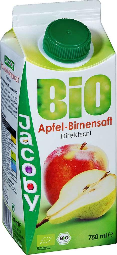 Abbildung des Sortimentsartikels Jacoby Bio Apfel-Birnen-Direktsaft 0,75l
