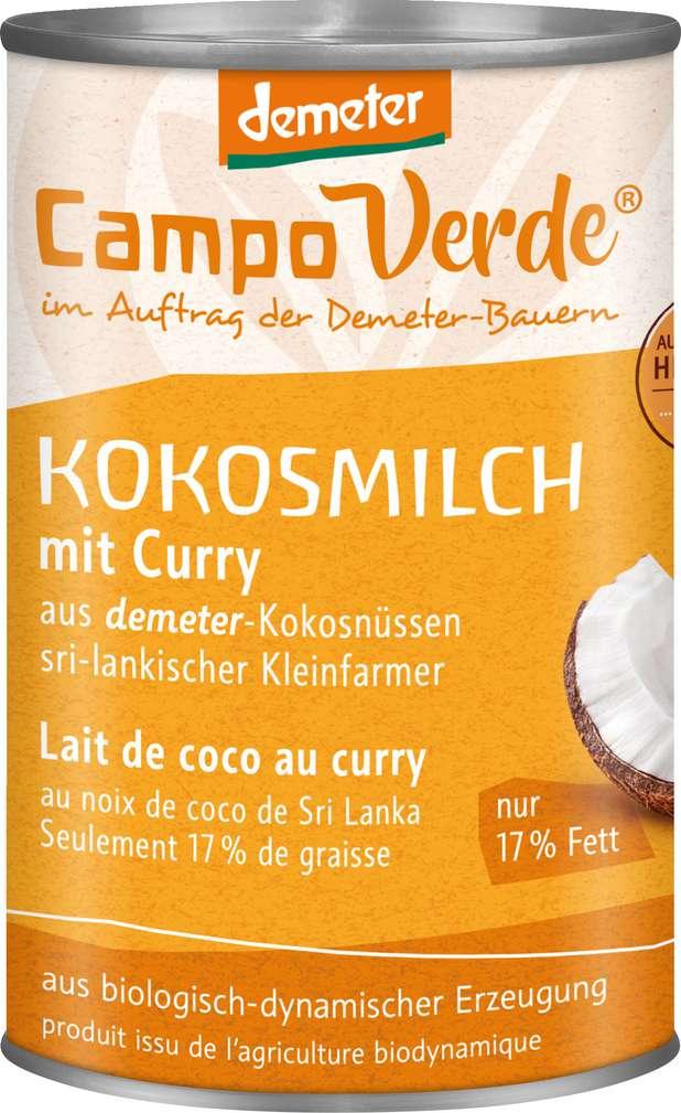 Abbildung des Sortimentsartikels Campo Verde Demeter Kokosmilch mit Curry 400ml