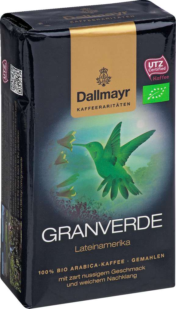 Abbildung des Sortimentsartikels Dallmayr Granverde Arabica-Kaffee gemahlen 250g
