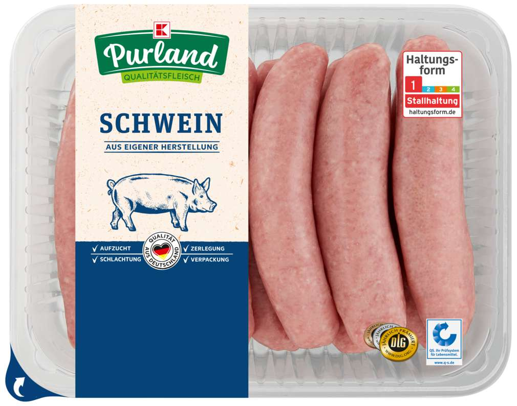 Abbildung des Sortimentsartikels K-Purland Grobe Bratwurst 10 Stück 1kg