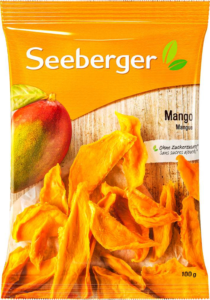 Abbildung des Sortimentsartikels Seeberger Mango ungezuckert 100g