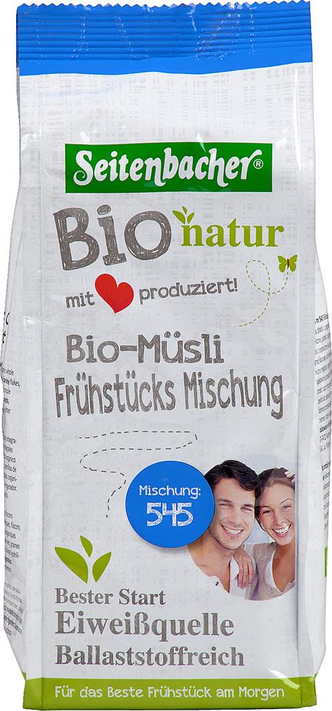 Abbildung des Sortimentsartikels Seitenbacher Bio-Müsli Frühstücksmischung 500g