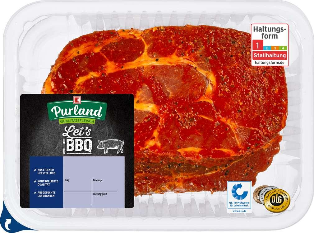 Abbildung des Sortimentsartikels K-Purland Schwenksteak vom Nacken/Kamm mariniert 2 Stück