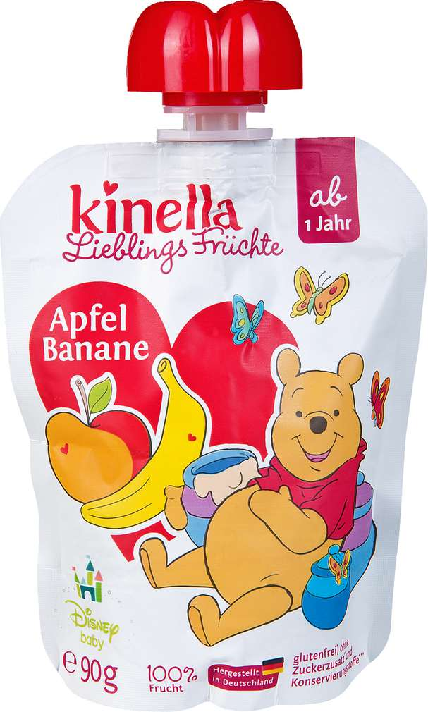 Abbildung des Sortimentsartikels Kinella Lieblings Früchte Apfel-Banane 90g