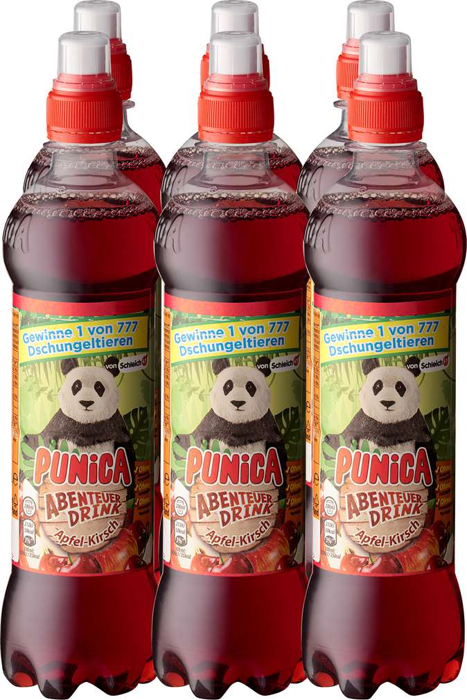 Abbildung des Sortimentsartikels Punica Abenteuer Drink Drink Apfel-Kirsch 6x0,5l