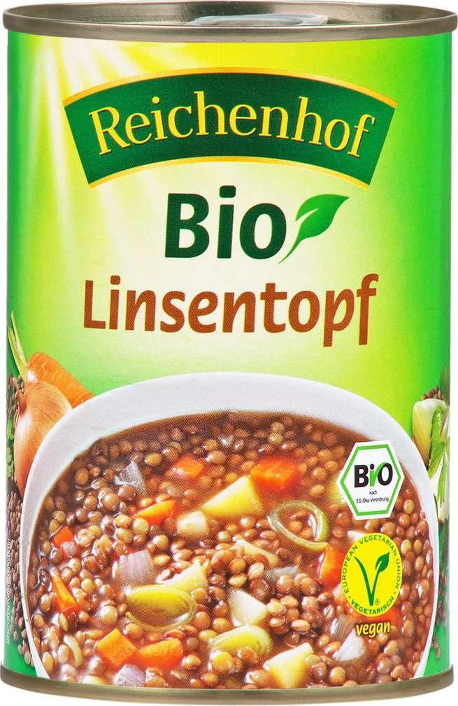 Abbildung des Sortimentsartikels Reichenhof Bio-Linsentopf vegetarisch 400g