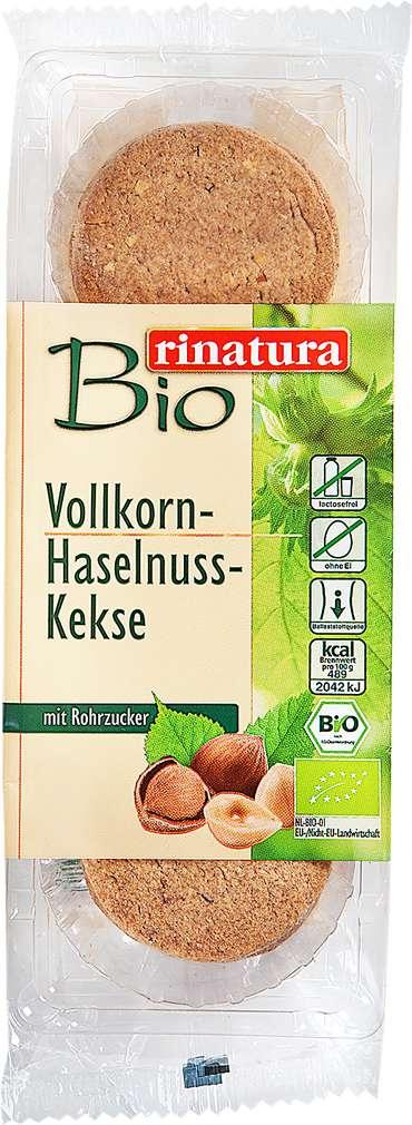 Abbildung des Sortimentsartikels Rinatura Vollkorn-Haselnuss-Kekse 150g
