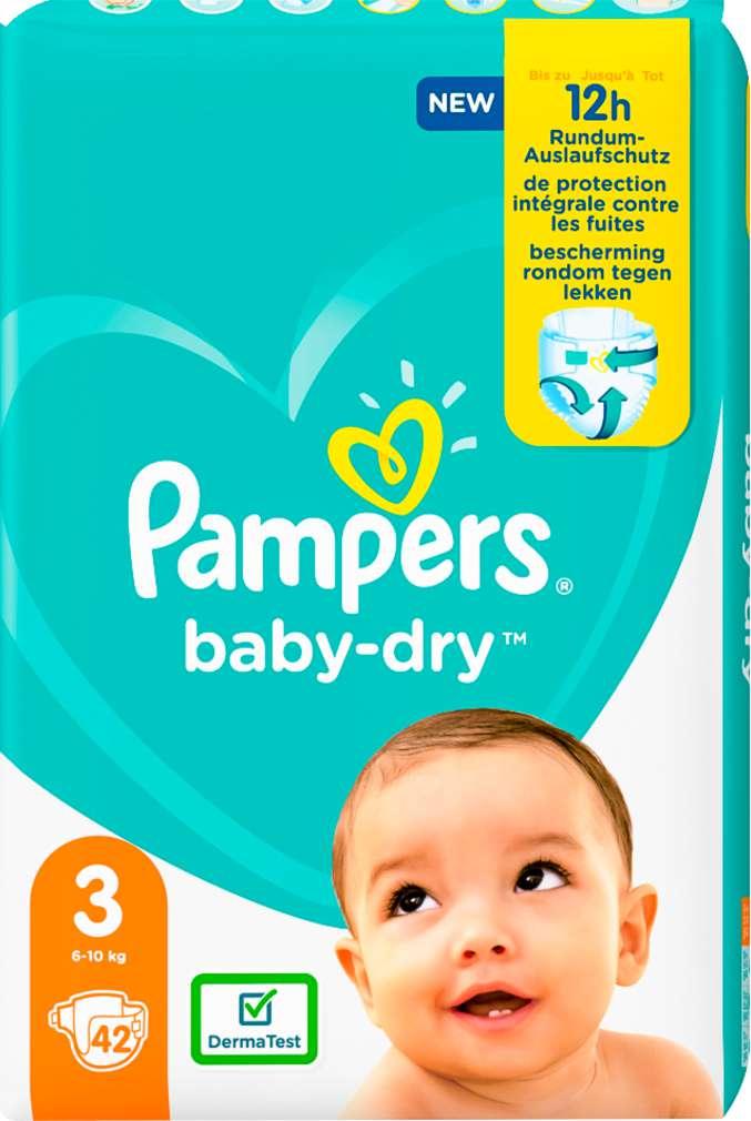 Abbildung des Sortimentsartikels Pampers Baby Dry Größe 3, 6-10kg 42 Stück