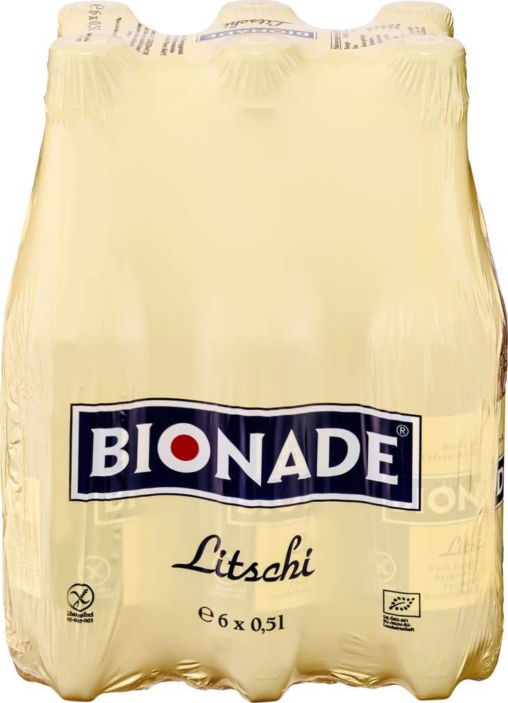 Abbildung des Sortimentsartikels Bionade Litschi 6x0,5l