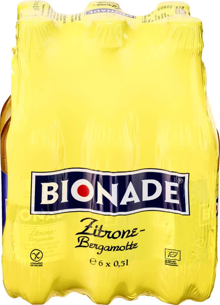 Abbildung des Sortimentsartikels Bionade Zitrone-Bergamotte 6x0,5l