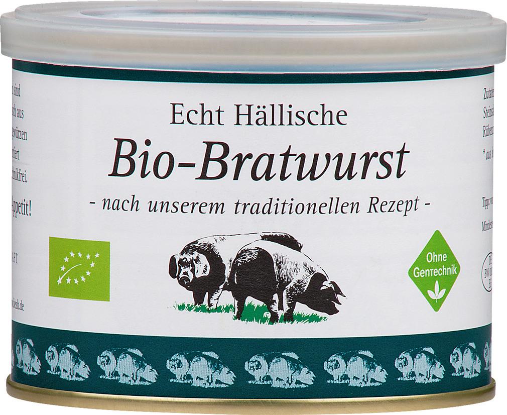 Abbildung des Sortimentsartikels BESH Echt Hällische Bio-Bratwurst 200g