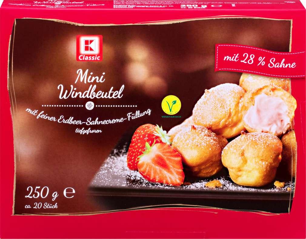 Abbildung des Sortimentsartikels K-Classic Mini Windbeutel Erdbeer-Sahnecreme 250g