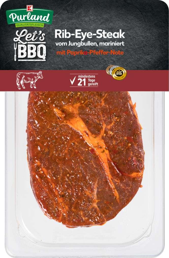 Abbildung des Sortimentsartikels K-Purland Let´s BBQ Rib-Eye-Steak mariniert