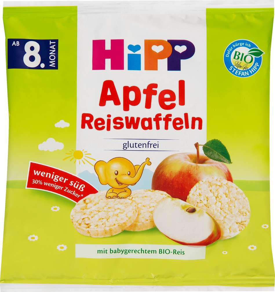 Abbildung des Sortimentsartikels Hipp Bio Apfel Reiswaffeln ab dem 8 Monat 30g
