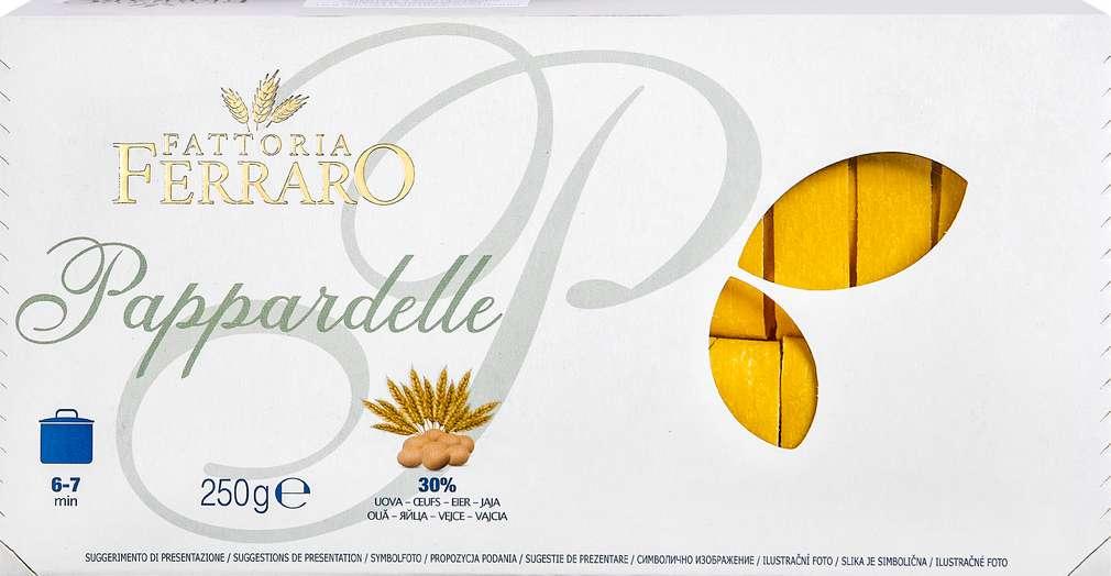 Abbildung des Sortimentsartikels Fattoria Ferraro Pappardelle Eiernudeln 250g