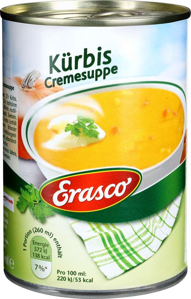 Abbildung des Sortimentsartikels Erasco Kürbis-Cremesuppe 390ml