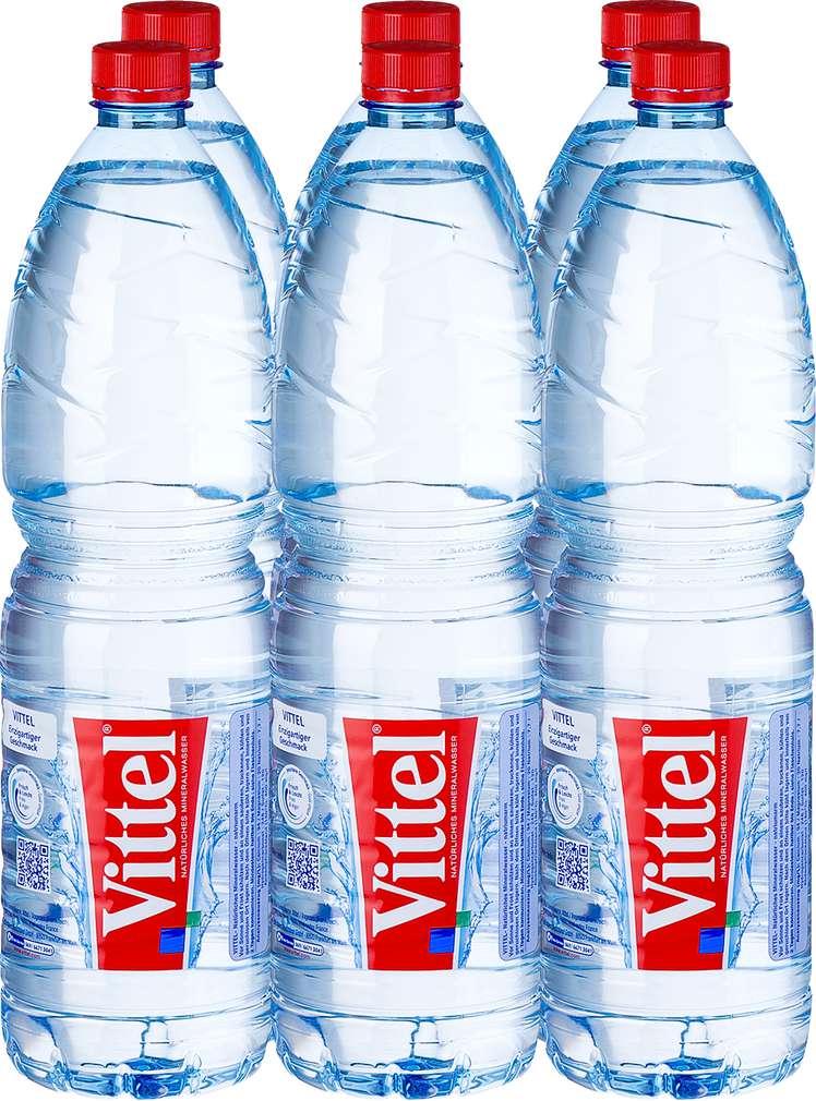 Abbildung des Sortimentsartikels Vittel Natürliches Mineralwasser still 6x1,5l