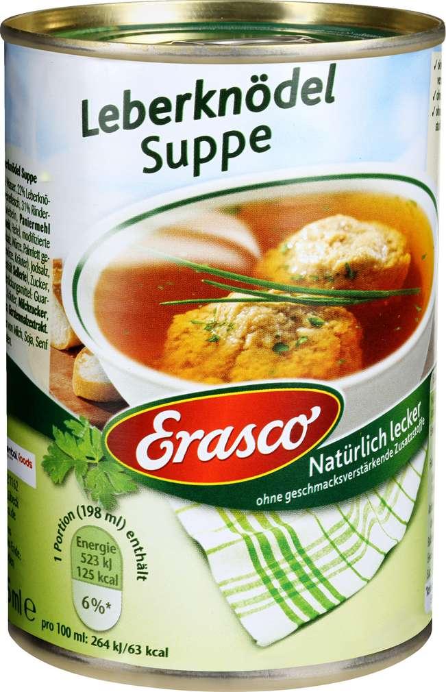 Abbildung des Sortimentsartikels Erasco Leberknödel-Suppe 395ml