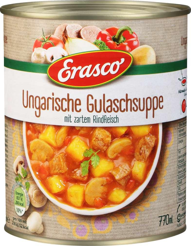 Abbildung des Sortimentsartikels Erasco Ungarische Gulaschsuppe 770ml
