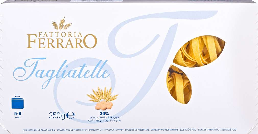 Abbildung des Sortimentsartikels Fattoria Ferraro Tagliatelle Eiernudeln 250g