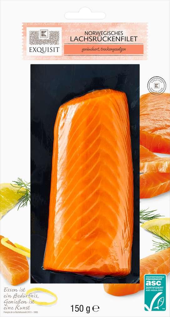 Abbildung des Sortimentsartikels Exquisit Norwegisches Lachsrückenfilet 150g