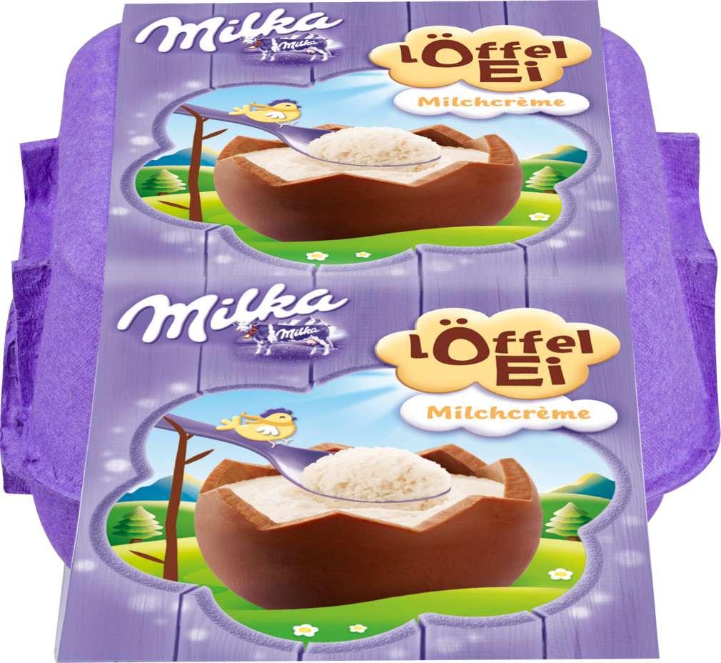 Abbildung des Sortimentsartikels Milka Löffel Eier Milchcréme 136g, 4 Stück