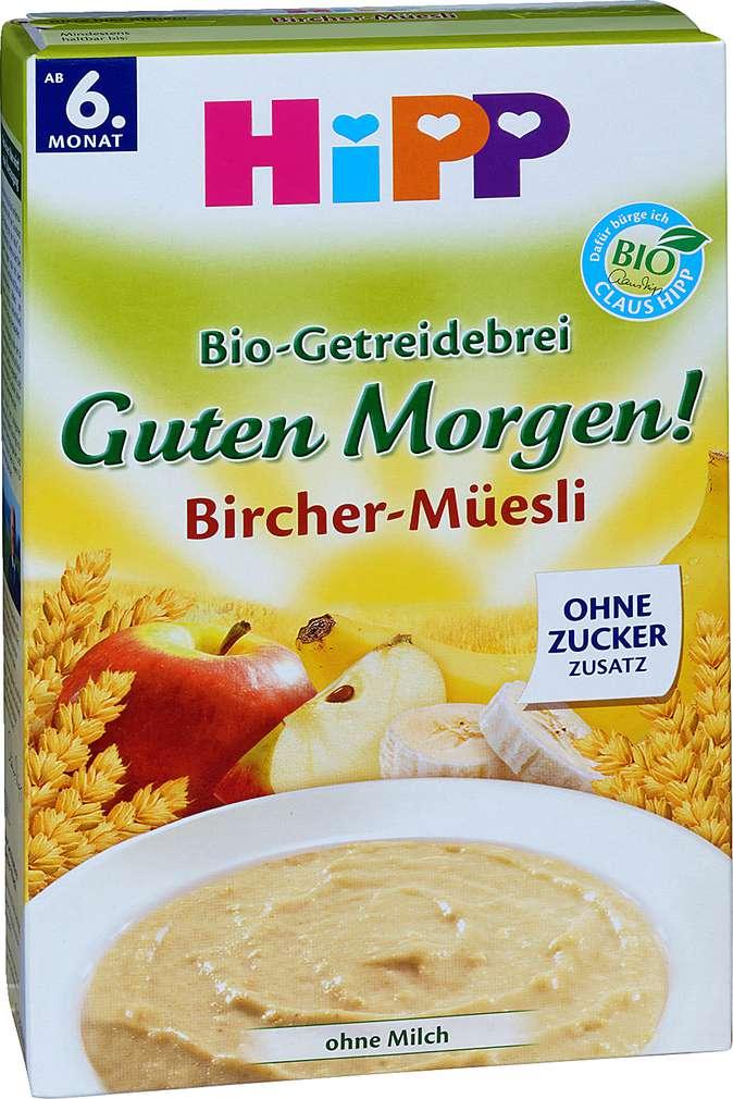Abbildung des Sortimentsartikels Hipp Bio-Getreidebrei Guten Morgen! Bircher-Müesli 250g