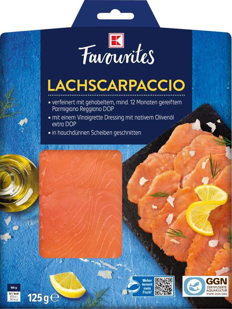 Abbildung des Sortimentsartikels K-Favourites Lachscarpaccio125g