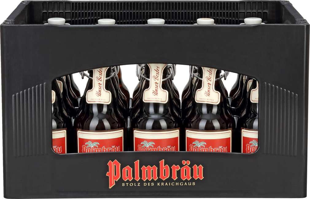 Abbildung des Sortimentsartikels Palmbräu Unser Bestes Bügelverschluss 20x0,33l