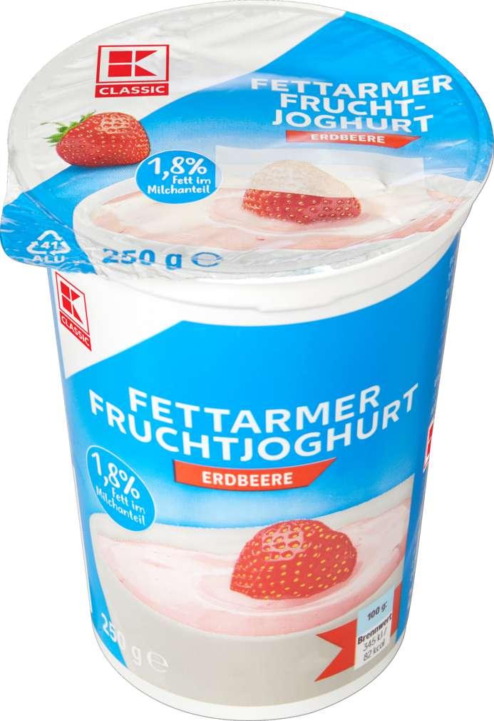 Abbildung des Sortimentsartikels K-Classic Fruchtjoghurt Erdbeer 1,8% Fett 250g
