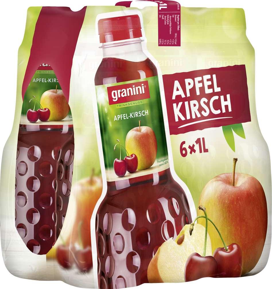Abbildung des Sortimentsartikels Granini Apfel–Kirsch-Nektar 6x1l