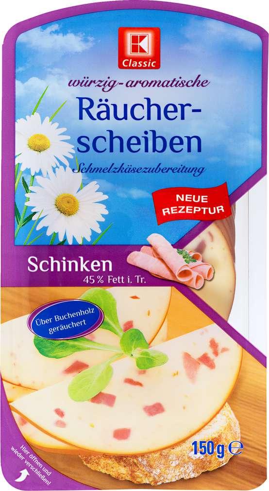 Abbildung des Sortimentsartikels K-Classic Räucherscheiben Schinken 45%Fett i.T. 150g