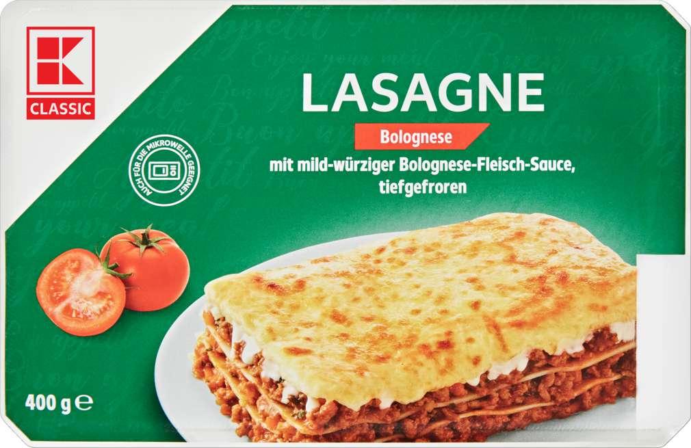 Abbildung des Sortimentsartikels K-Classic Lasagne Bolognese 400g